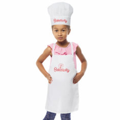 Kids Baketivity Apron With Chef Hat