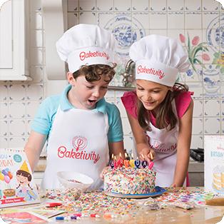 Kids Over Birthday Cake