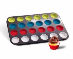 24 Mini Cupcake Holder Non-Stick Carbon Steel Pan